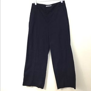 Everlane Wide Leg Pants Center Seam Black Size 4
